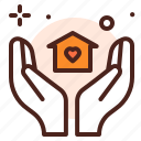 giving, help, housing icon