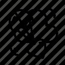 extreme, parachute, sports icon