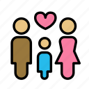 child, family, love icon