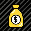 coins, econo, finance, love, money, my, sack icon
