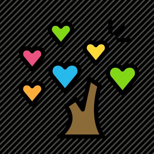 love, plant, spread2, tree icon