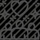 charity, friendly, heart, help, love, people, volunteering icon