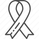awareness, cancer, charity, donation, help, ribbon, volunteering icon