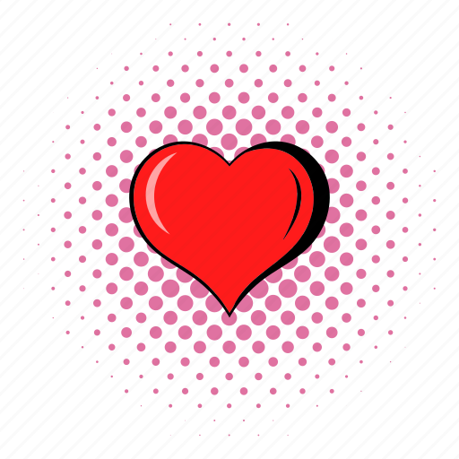 comics, heart, holiday, love, red, romance, valentine icon