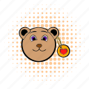 bear, comics, heart, love, teddy, teddybear, valentine icon