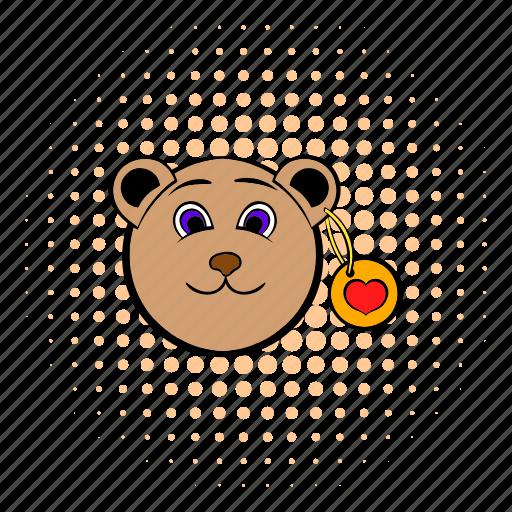 bear, comics, heart, love, teddy, teddybear, valentine icon
