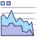 area, business, chart, graph icon