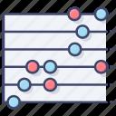 dot, plot, chart, statistics icon