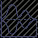 chart, diagram, plot, violin icon