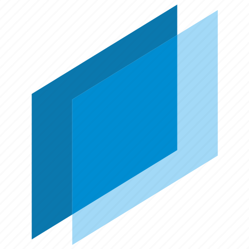 complex, flat, geometry, object, parallel, smart icon