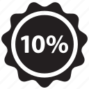 discount, ecommerce, label, percent, price, sale, tag icon