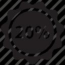 discount, ecommerce, label, percent, price, sale, tag icon