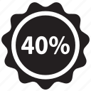 discount, ecommerce, label, percent, price, shopping, tag icon