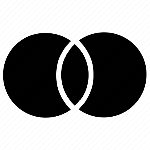 chart, diagram, graph, overlap, presentation icon