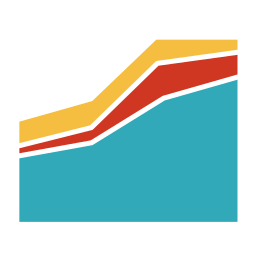 analytics, area chart, black background, business, diagram, report, schedule icon