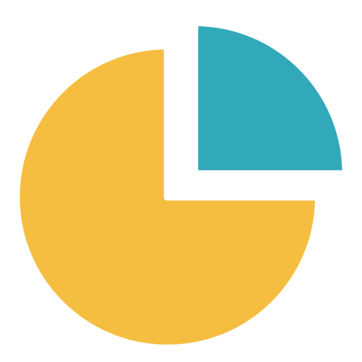 black background, diagram, finance, pie chart, presentation, report icon