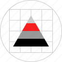 chart, data, graphic, pyramid icon