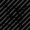 circle, data, diagram, doughnut chart icon