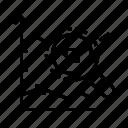 data, diagram, line chart, marker icon