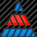 chart, diagram, graph, pyramid, schedule, triangle icon