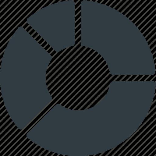 Analytics, insight, chart, donut, infographic, circle, presentation icon