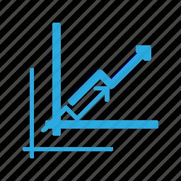 analytics, arrow, chart, infographic, insight, presentation icon