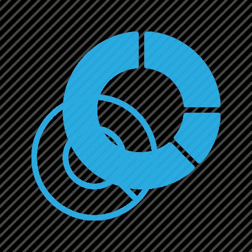 analytics, chart, circle, donut, infographic, insight, presentation icon