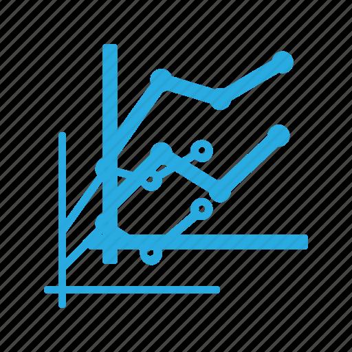 analytics, chart, fragment, infographic, insight, line, presentation icon