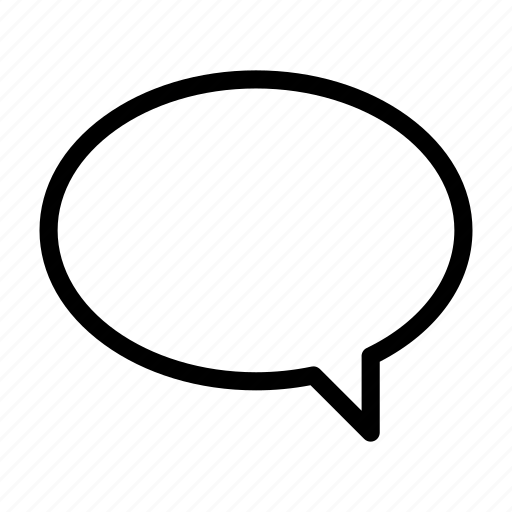 baloon, chat, empty, oval, right icon