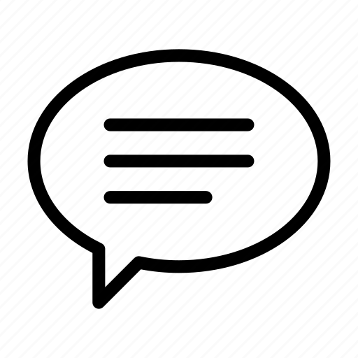 baloon, chat, full, left, oval, text icon