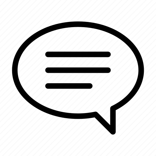 baloon, chat, full, oval, right, text icon