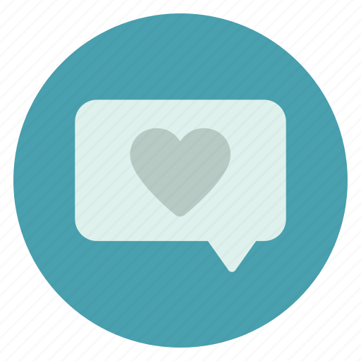 chat, heart, love, message, messages icon
