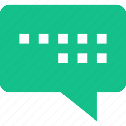 bubble, chat, lines, sms, talk icon