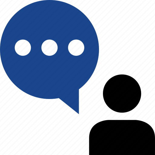 bubble, chat, person, sms, talk icon