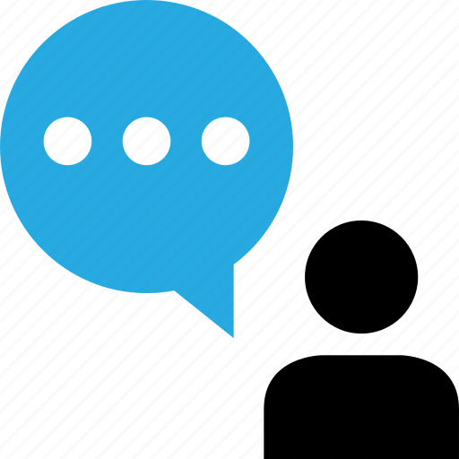 bubble, chat, sms, user icon