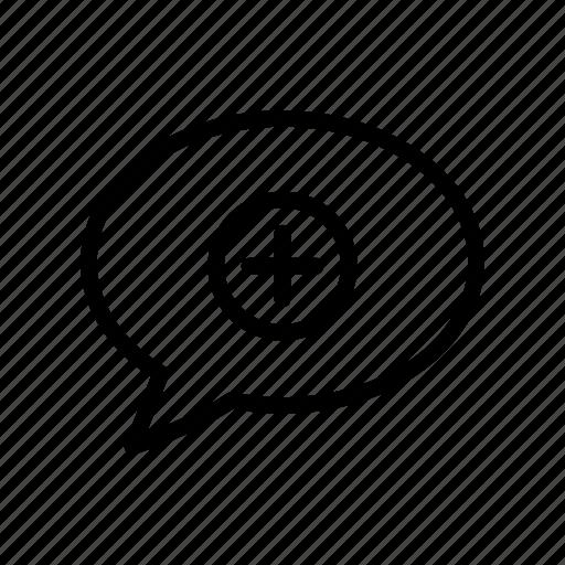 add, bubble, chat, message, plus icon