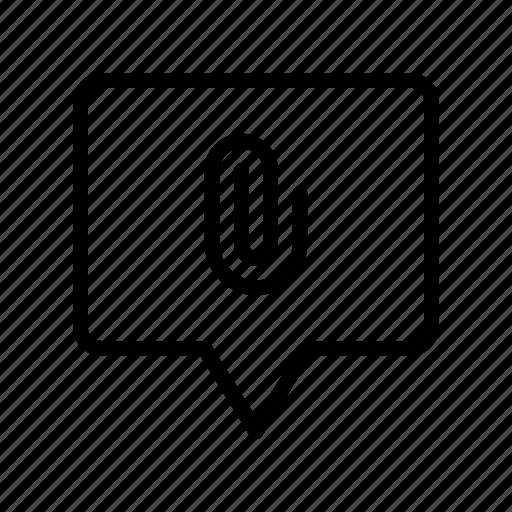attach, bubble, chat, clip, message icon