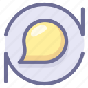 chat, discuss, message, reviews icon