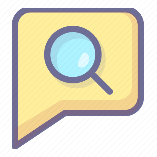 chat, discuss, message, reviews, search records icon