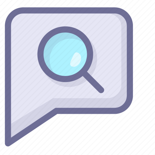 chat, discuss, message, search chat records icon