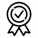 approval, badge, guarantee, label, quality, sign, stamp icon