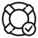 approve, check, guarantee, lifebuoy, safe, secure, verify icon