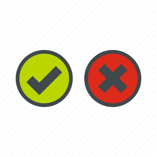 close, cross, delete, reject, selection, tick, wrong icon