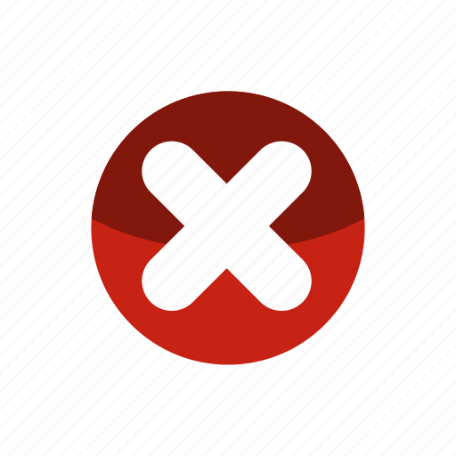 circle, cross, fat, mark, no, shape, wrong icon