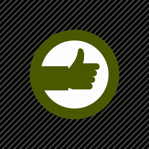 circle, correct, hand, mark, ok, up, yes icon