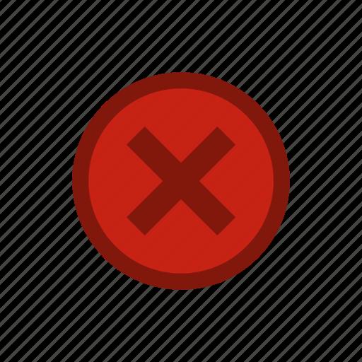 circle, cross, mark, no, selection, shape, wrong icon