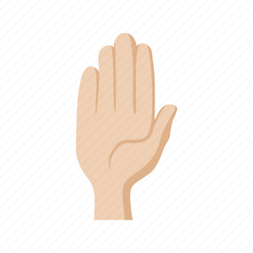 cartoon, gesture, hand, no, palm, sign, stop icon