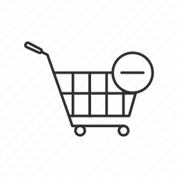 cart, online shopping, remove from shopping cart, shopping cart icon