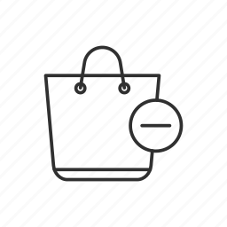 bag, remove from bag, shopping, shopping bag icon