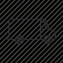 delivery, truck, van, vehicle icon